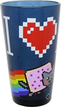 Nyan Cat I Love Nyan Cat Pint Glass