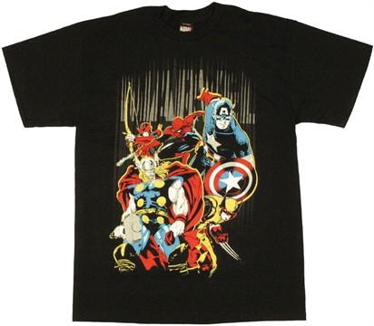 Marvel Heroes Name Stripes T-Shirt