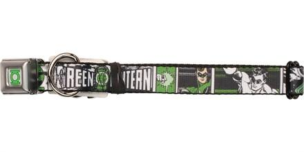Green Lantern Hal Jordan Squares Pet Collar