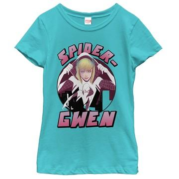 Spider-Gwen Hood Up Youth Girls Shirt