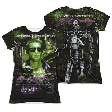 Terminator Japan Poster FB Sub Juniors T Shirt