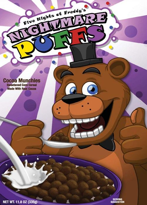 Five Nights at Freddy's Nightmare Puffs Cereal