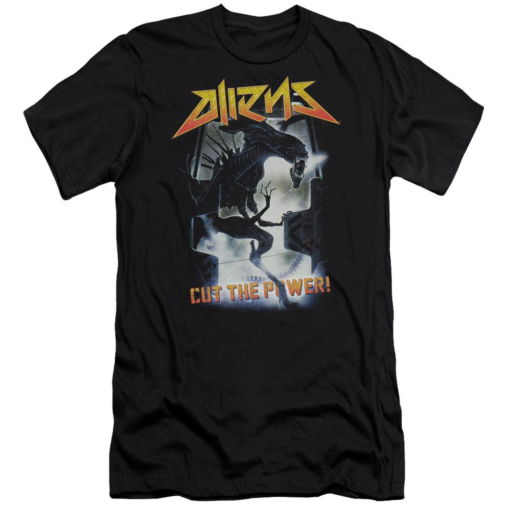 Aliens Cut The Power Hbo Short Sleeve Adult T-Shirt
