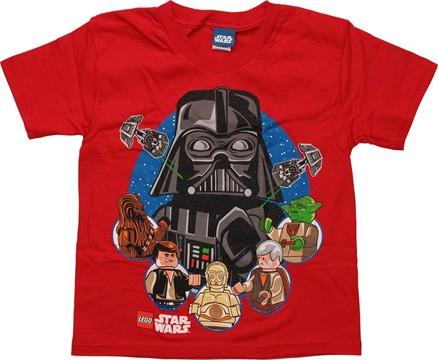 Star Wars Lego Vader Over Heroes Juvenile T-Shirt, , small