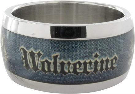 X Men Wolverine Name Face Blue Ring
