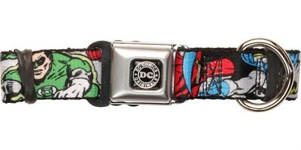 Justice League Heroic Poses Pet Collar