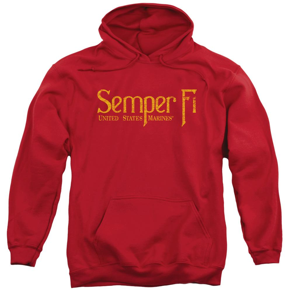 Us Marine Corps Semper Fi Adult Pull Over Hoodie