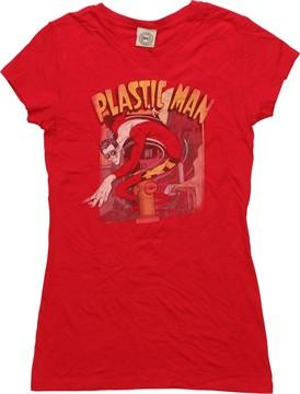 Plastic Man Street Juniors T-Shirt