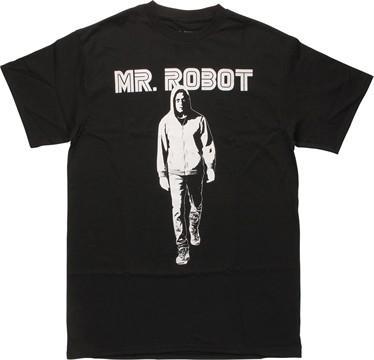 Mr Robot Walking Under Name T-Shirt