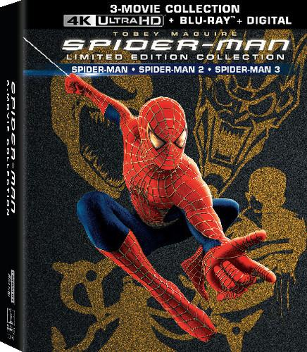 Spider-Man 1, 2 & 3 [Giftset] [Limited Edition] [4K Ultra HD Blu-ray/Blu-ray]
