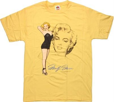 Marilyn Monroe Pose Sketch T-Shirt