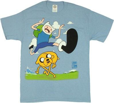 Adventure Time Finn Hurdle T-Shirt (MD) | FYE