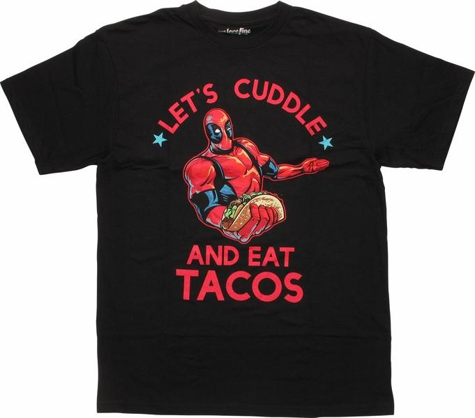 Deadpool Cuddle and Eat Tacos T-Shirt