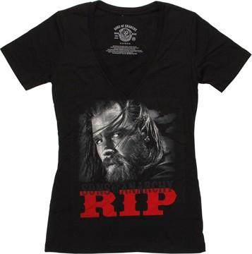 Sons of Anarchy Opie RIP V Neck Juniors T-Shirt