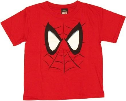 Spiderman Face Juvenile T Shirt, , small