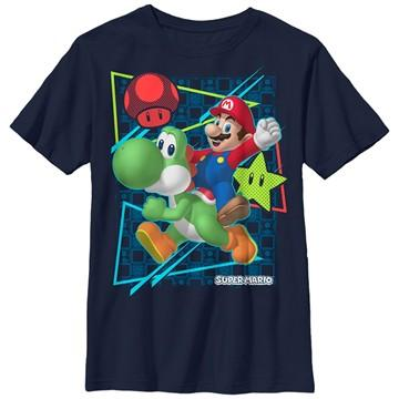 Mario Yoshi Power Ups Youth T-Shirt