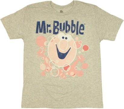 Mr Bubble Logo T Shirt Sheer