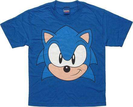 Sonic the Hedgehog Head Youth T-Shirt