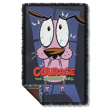 Courage the Cowardly Dog Window Throw Blanket