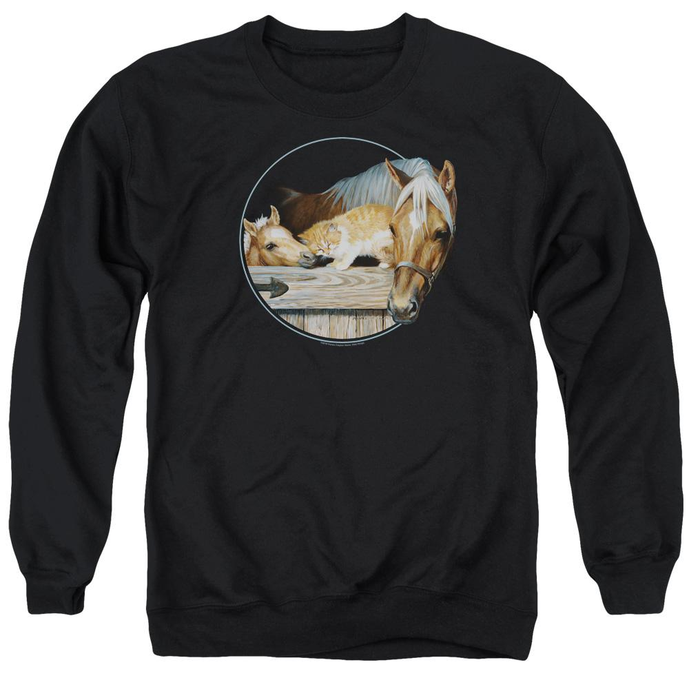 Wild Wings Everyone Loves Kitty Adult Crewneck Sweatshirt