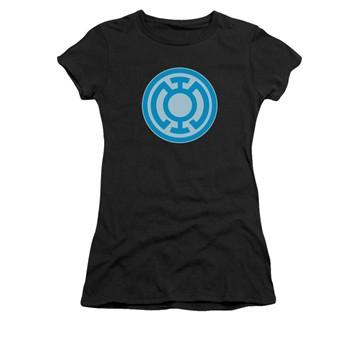 Green Lantern Blue Symbol Juniors T Shirt