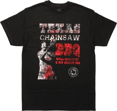 Texas Chainsaw Massacre Pit Cooked BBQ T-Shirt