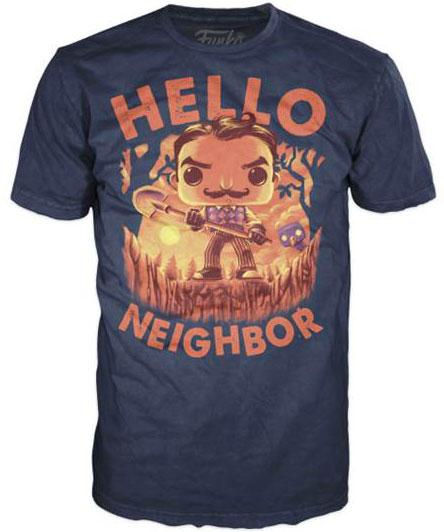Exclusive Hello Neighbor Bye Bye Neighbor Funko Pop T-Shirt