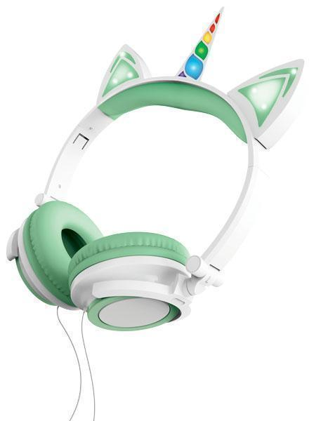 Sharper Image Unicorn Light Up Headphones Mint Fye