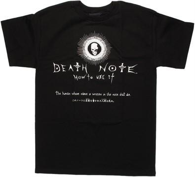 Death Note Notebook Instructions T Shirt