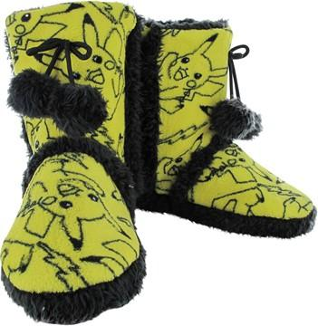 Pokemon Pikachu Allover Print Womens Boot Slippers