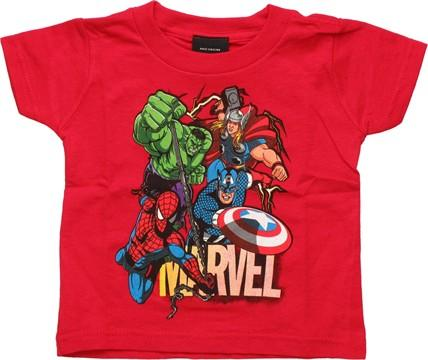 Avengers Lightning Group Red Infant T Shirt