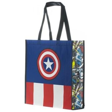 Captain America Logo Tote Bag