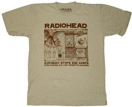 a069aedeb95 Radiohead Stops And Gawps T-Shirt Sheer (MD)