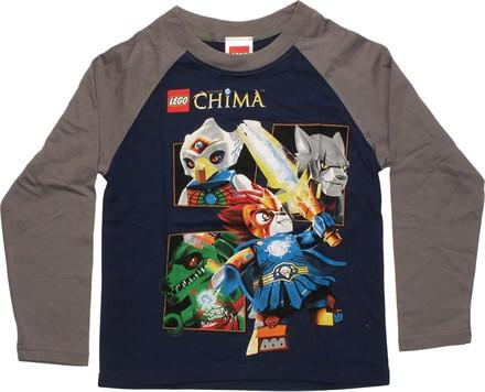 Lego Chima Four Characters Raglan Juvenile T-Shirt, , small