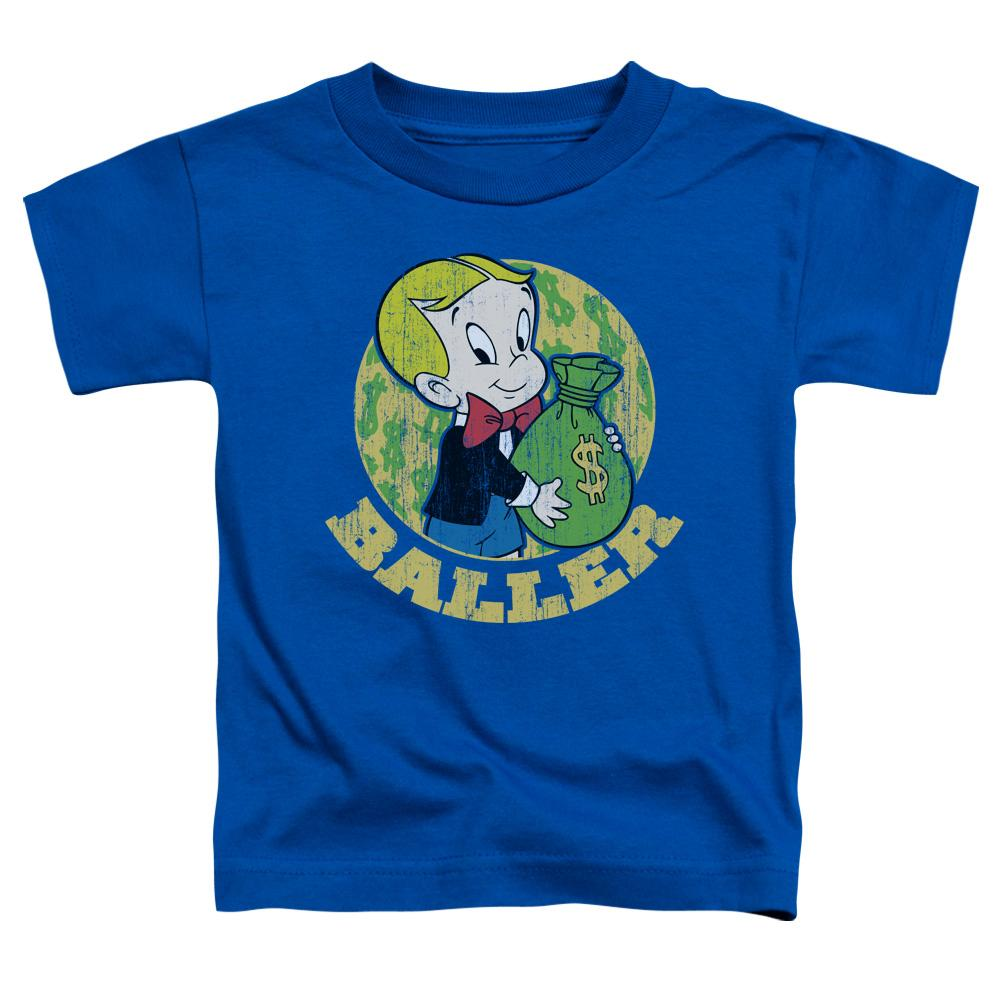 Richie Rich Baller Short Sleeve Toddler Tee Royal Blue T-Shirt
