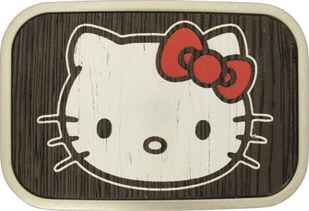Hello Kitty Face Distressed Belt Buckle