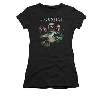 Injustice Gods Among Us Key Art Juniors T Shirt