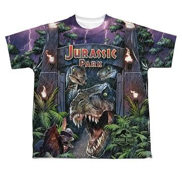 Jurassic Park Welcome Dye Sub Youth T Shirt