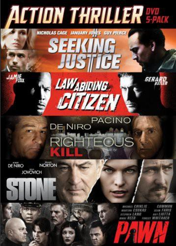 Seeking Justice/Law Abiding Citizen/Righteous Kill/Stone/Pawn [5 Discs]