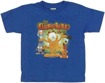Garfield Show Group Juvenile T Shirt