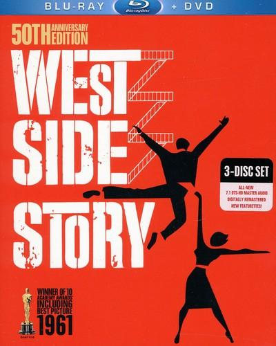 West Side Story [50th Anniversary Edition] [3 Discs] [Blu-ray/DVD], , small