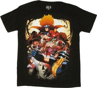 Marvel vs Capcom 3 Group T Shirt Sheer